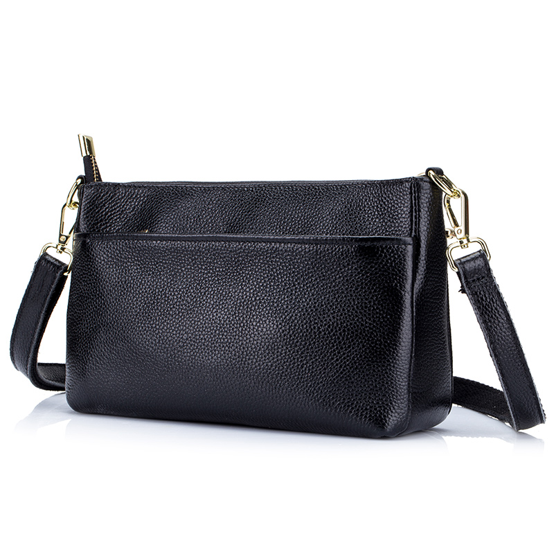 Genuine Leather Female Messenger Bag European And American Large Capacity Ladies Handbags 2018 Brand Designer Women Leather Bag hansomfy womens handbags solid patent leather shoulder bag european and american style versatile female vintage bucket brand bag