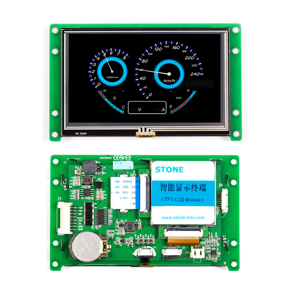 4.3'' TFT Color LCD Module Touch With Wide Voltage