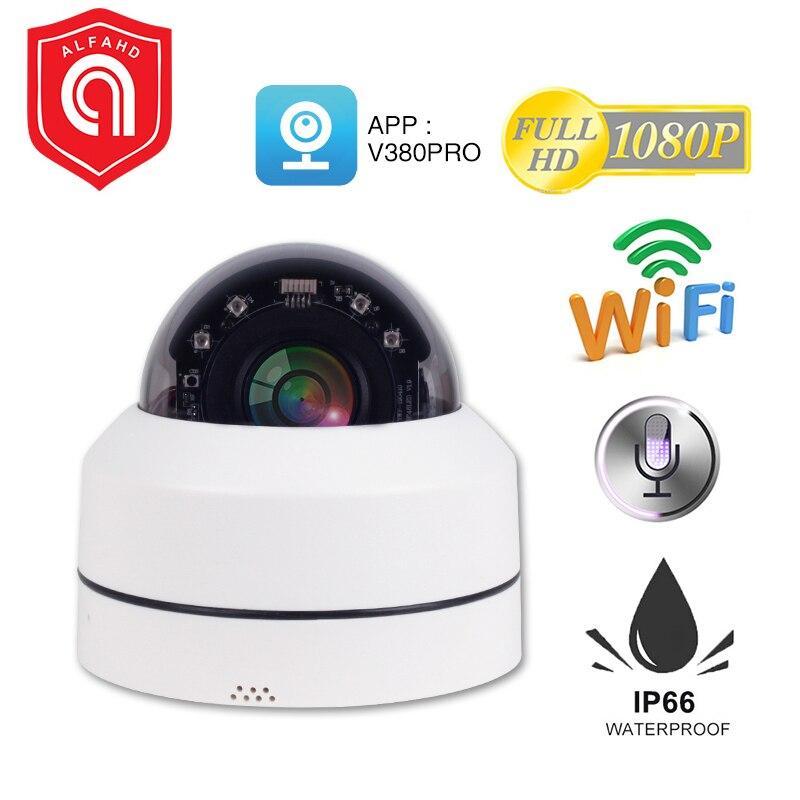 H.265 PTZ Mini Wifi IP Sem Fio Câmera Dome Ao Ar Livre 1080P 2MP 4X Zoom Óptico PTZ Wi-fi Ao Ar Livre Câmera de Segurança visão noturna