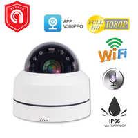 PTZ Mini Wifi Wireless IP Dome Kamera Im Freien H.265 1080P 2MP PTZ 4X Optische Zoom Wifi Outdoor Sicherheit Kamera nacht Vision