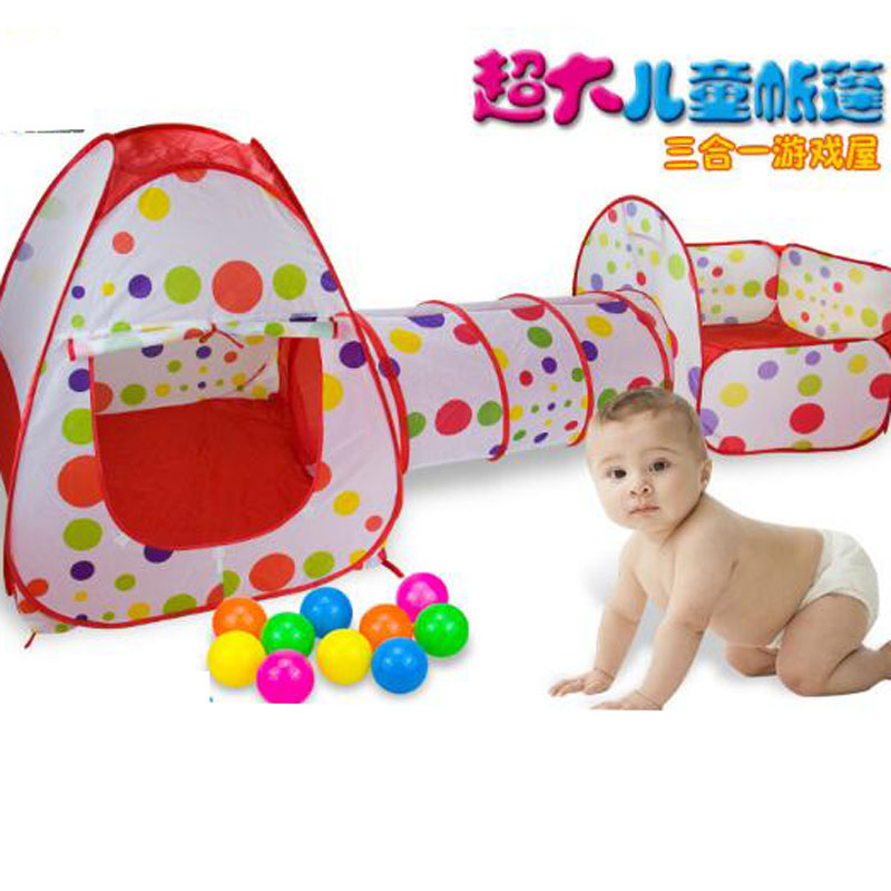 Waterproof Polyester Nylon Cloth Under The Age Of Three  Basketball pool  Crawling tunnel Children's Playhouse Folding Toy Tent tazoacha francis climate change implications on forests resource management