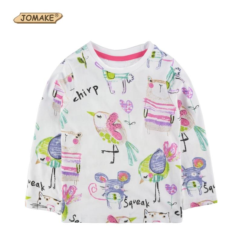2018 ربيع JOMAKE العلامة التجارية طفلة تي - ملابس الأطفال