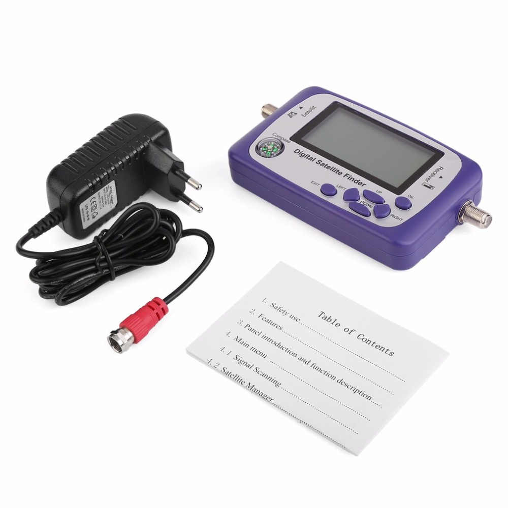 Affichage numérique Satellite détecteur mètre Satfinder TV Signal récepteur Sat décodeur Satlink récepteur Buzzer LCD FTA