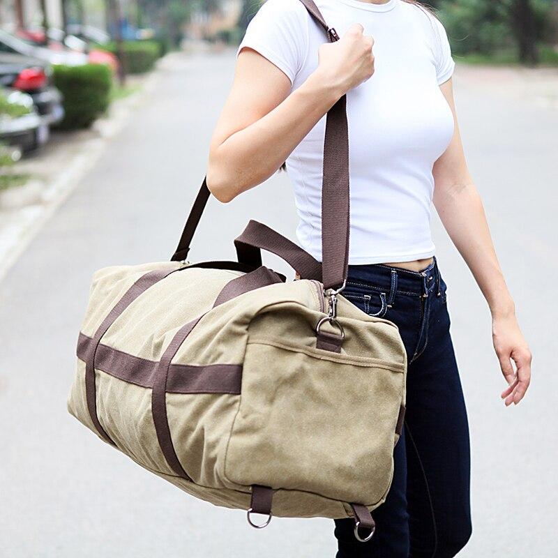 New Canvas Men Travel Bag Large Capacity Women Hand Luggage Travel Duffle Bag Weekend Bags Multifunctional Reistas Shoulder Bag 3