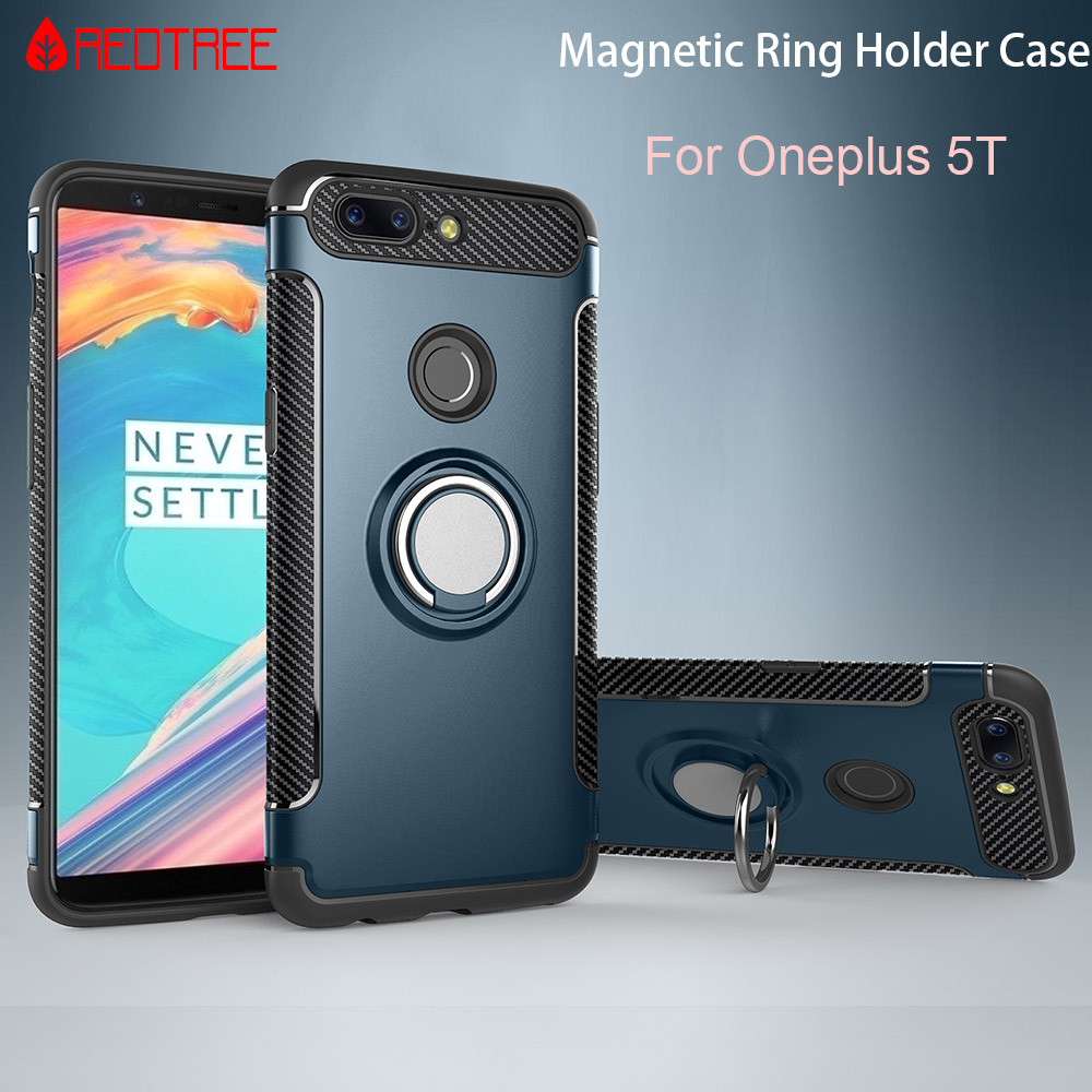 Magnetic Suction Finger Ring Cases for Oneplus 5T Armor TPU+PC Holder Stand Smartphone Case for Oneplus 5 Celular Case Capa smartphone