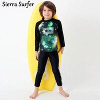 Из двух частей 2 детей Плавание костюм милые дети Плавание костюмы Плавание Носите 2018 корейский костюм мальчика звезды с длинным рукавом ...