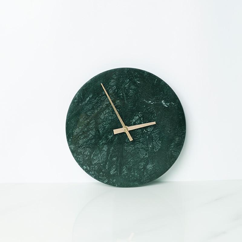 Marmuru zegar minimalistyczny nowoczesny Design zegary ścienne kuchnia sztuki Nordic osobowości zegarek ścienny akcesoria do dekoracji domu w Zegary ścienne od Dom i ogród na  Grupa 2