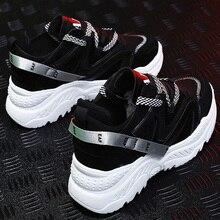 Кроссовки на платформе; большие размеры 39-44; женские кроссовки на шнуровке; обувь для папы с закрытым носком; женская обувь из сетчатого материала; Лидер продаж; buty damskie