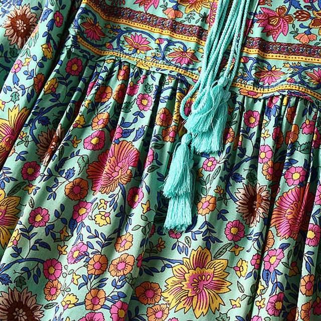 Boho Inspired Long Summer Tassel Dress