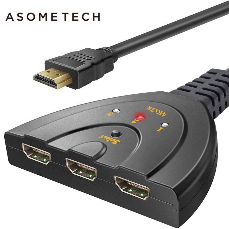 Vente chaude HDMI HUB 3 Ports 1080 P 3D HDMI AUTO Switch Switcher Splitter avec Câble pour PC TV HDTV DVD PS3 Projecteur Xbox 360 câble