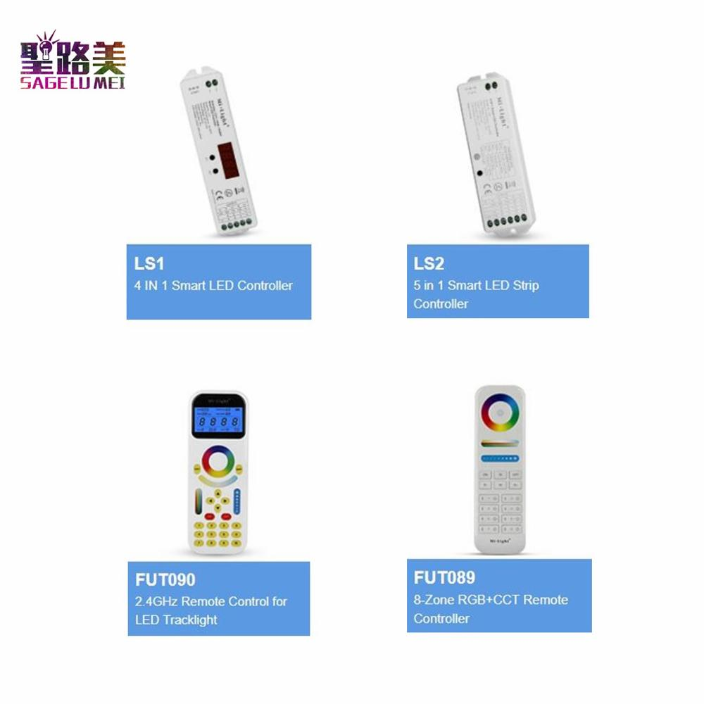 FUT089 FUT090 8-Zone Remote Controller LS1 LS2 5 IN 1 4 IN 1 Smart Controller For RGB RGBW CCT Single Color LED Strip Light Tape