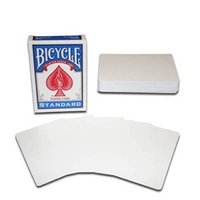 1 Deck ORIGINAL Bicycle Double Blank Playing Cards Magic Tricks Special Poker For Magician Making Magic