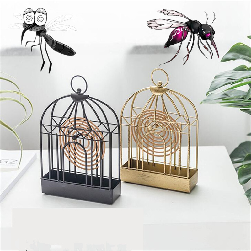 Retro Iron Insect Mosquito Coil Holder Innovative Home Incense Sandalwood Mosquito Repellent Coil Ornament