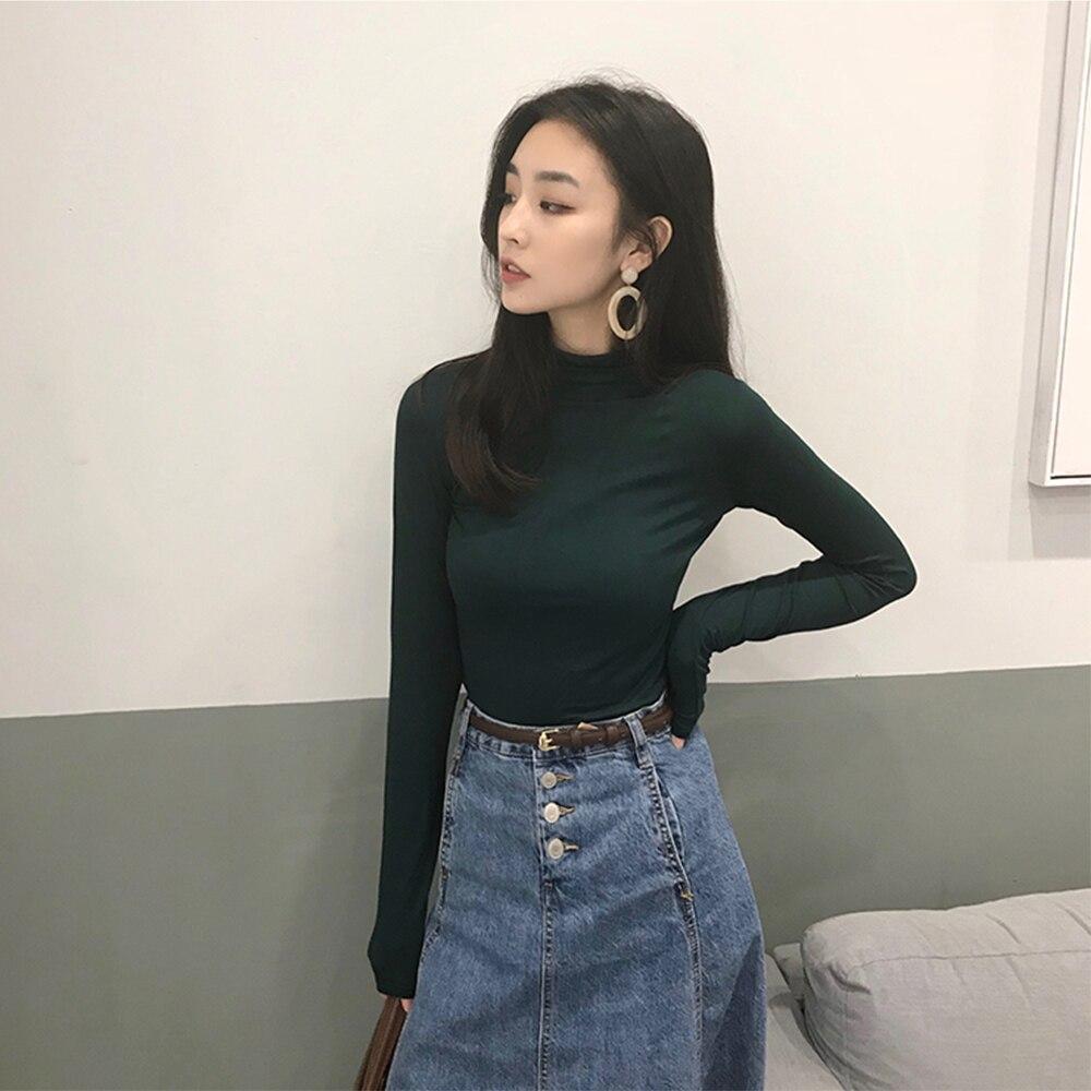 Achat Femmes à Manches Longues T Shirt 2018 Automne Hiver