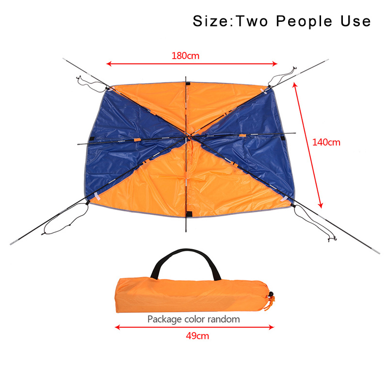 Inflatable Boat Kayak Accessories Fishing Sun Shade Rain Canopy Kayak Kit Sailboat Awning Top Cover 2-4 persons Boat Shelter outdoor 1 person inflatable boat canoe kayak sun shelter awning top cover sun shade blue for camping hiking fishing equipment