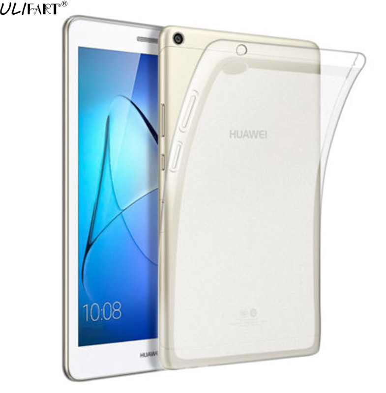 ULIFART Shockproof Flexible TPU Case Cover Skin For Huawei MediaPad T3 8inch / 10inch Transparent Protective+Free Gift стоимость