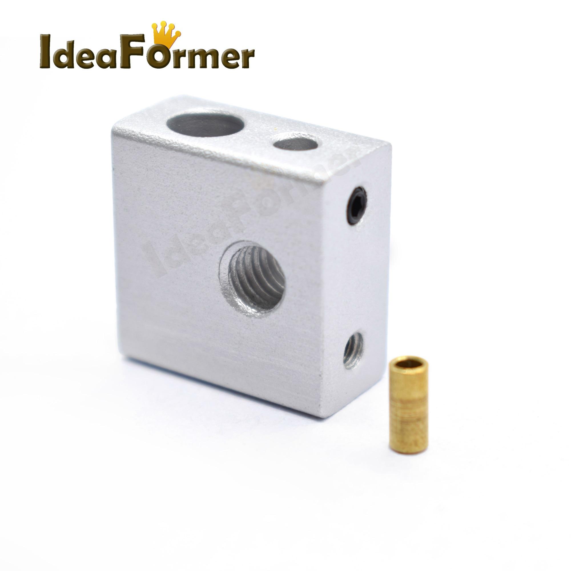 Aluminium Heating Block M6 M3 20*20*10mm Thread For Makerbot MK7//MK8 3D Printer