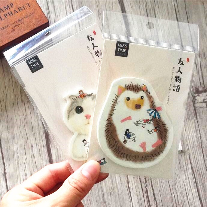 1pack/lot Cute Friends story series Notepad fashion Bookmark post it office school supplies stationery label