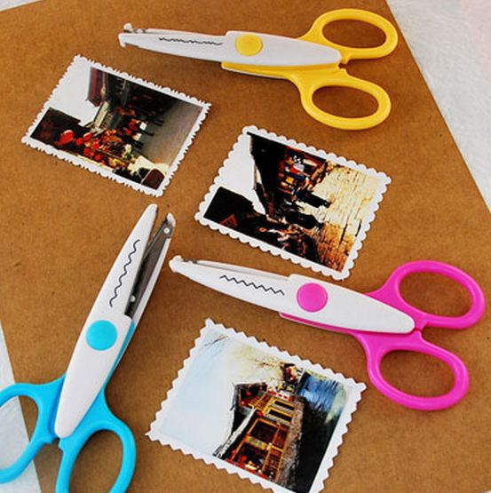 Metal And Plastic DIY Scrapbooking Photo Scissors Paper Lace Diary Decoration Wave Lace Edge Craft Scissors Lace Scissors Z451