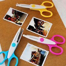 Металл и пластиковые DIY скрапбукинг ножницы бумага кружева дневник украшения волны кружева край ремесло ножницы кружева ножницы Z451