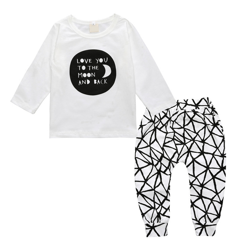 Детские наряды для мальчиков Обувь для девочек одежда с надписью с длинными рукавами футболка + Брюки для девочек 2 шт./компл. весна и осень д...