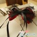 Dulce princesa lolita de pelo arco hechos a mano arco góticos accesorio para el pelo 3 ccbt accesorios negro y rojo de la cinta a0035 bandeaus