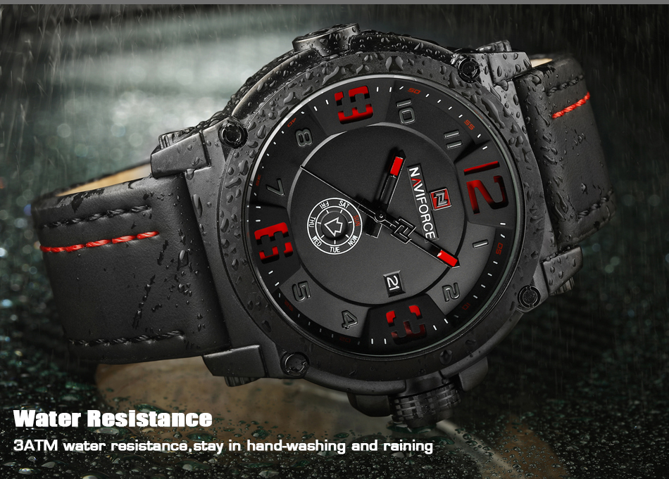 6  High Model Luxurious NAVIFORCE Males Sports activities Watches Males's Military Navy Leather-based Quartz Watch Male Waterproof Clock Relogio Masculino HTB194o8fHsTMeJjSszhq6AGCFXaa