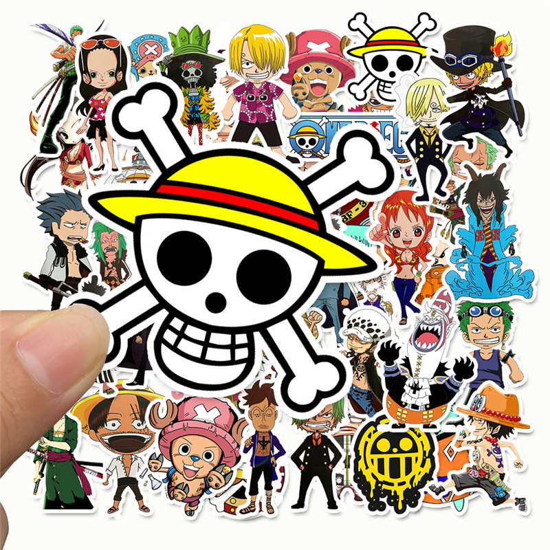 50 Pcs/Lot Anime 2019 ONE PIECE Luffy Stickers For Car Laptop PVC Backpack Home Decal Pad Bicycle PS4 Waterproof Decal