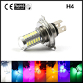 2pcs wholesale H4 LED 33 SMD White Car Fog Light Headlight Driving Lamp Bulb White Ice Blue Pink Green Yellow Red