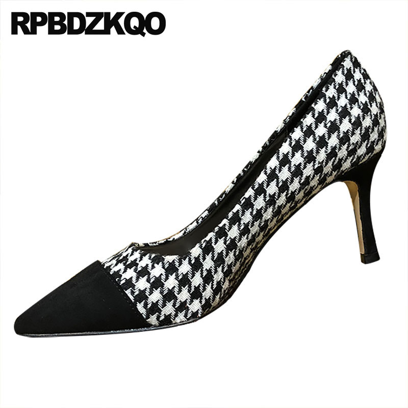 fashion shoes brand 8cm 2018 multi colored suede china plaid size 4 34 pointed toe high heels pumps stiletto ladies designerfashion shoes brand 8cm 2018 multi colored suede china plaid size 4 34 pointed toe high heels pumps stiletto ladies designer