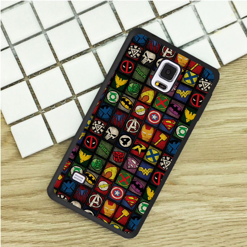 All Logo Superhero DC Comics TPU Phone Cases For Samsung Galaxy S3 S4 S5 mini S6 S7 Edge S8 plus Note 2 3 4 5 Cover Soft