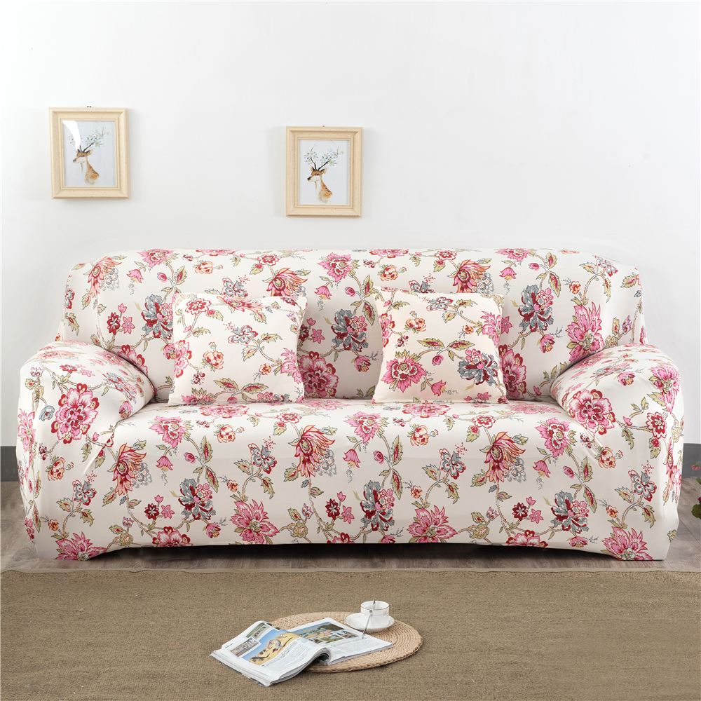 Monily Floral Geometry Sofa Cover Wrap Tight Elasticity