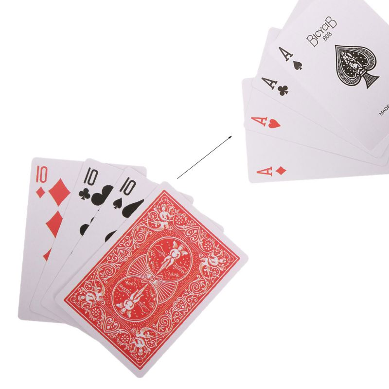 Magic Tricks Cards 4 Cards 10 To A Transformer Magic Props Close Up Magic Toy Kids Toy