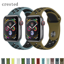 f0d065b1e98 CRESTED Sport strap For Apple Watch band 4 42mm 44mm iwatch 3 band 38mm