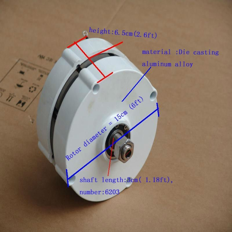 PMG gerador gerador horizontal