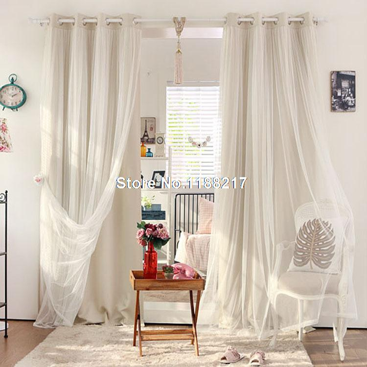 2014 New Korean Models Matt Full Blackout Curtains Curtains For Living Room  White Tulle/sheer Curtains Free Shipping WC0002 In Curtains From Home U0026  Garden ...