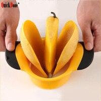 QuickDone Mango Splitter Fruit Vegetable Gadget Creative Strawberry Peach Peeler Corers Shredder Innovative Kitchen Tool AKC5173