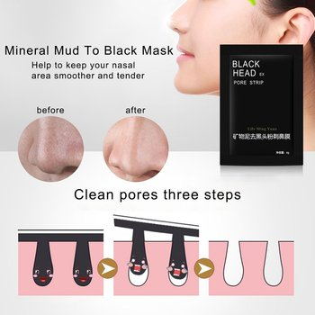 6g Nose Mineral Mud Nose Blackhead Pore Spots Cleansing Cleaner Removal Membranes Strips Mask Strips Face Skin Care Machine