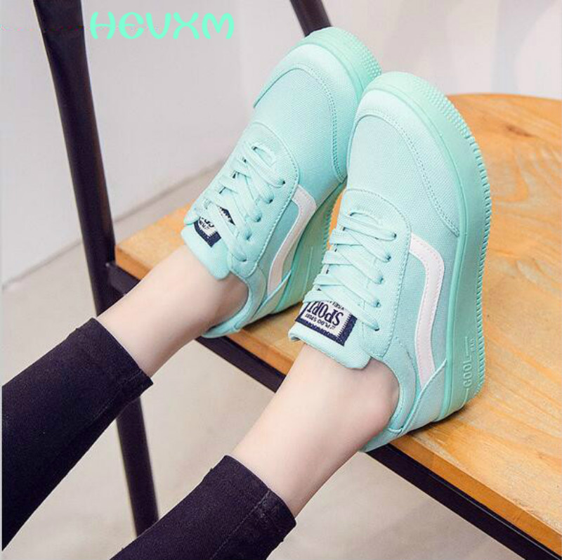 2017 Spring New Women Shoes Flat With Lace Up Canvas Shoes Fashion Casual Female Candy Color
