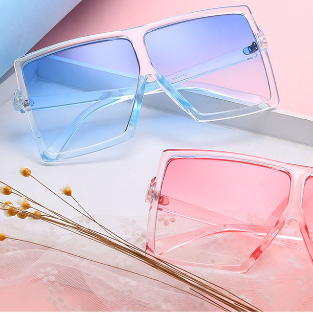 e31d76bcf7 reggaeon 2018 new reggaeon Super Square Sunglasses Men Fashion Sunglass  Mirror Oversized Driving Ocean Lens UV400 Sun Glasses