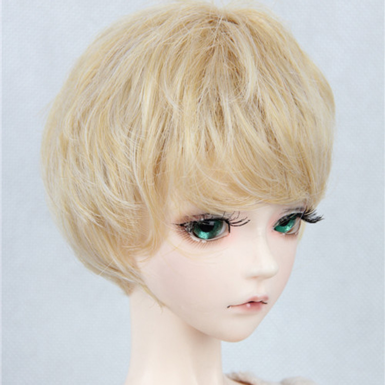 Immediately shipped BJD / SD doll wig Dollshe craft venitu gold roll short hair high temperature wire 1/3 1/4 1/6 high quality new 1 4 8 9 inch bjd wig short hair doll diy high temperature wire for 1 4 msd bjd sd dollfie