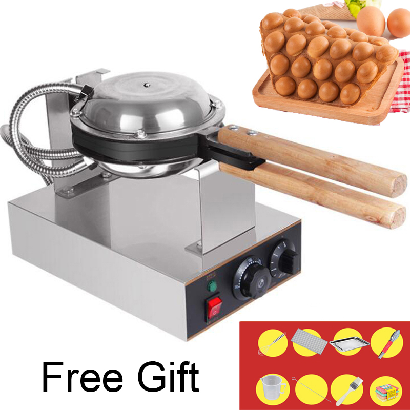 Professional Commercial Electric egg bubble waffle maker machine eggettes puff cake iron maker machine bubble egg cake oven directly factory price commercial electric double head egg waffle maker for round waffle and rectangle waffle