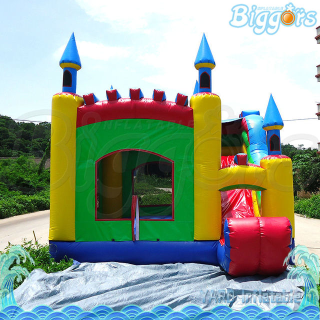 Safety Net Inflatable Bouncying House With Slide For Selling