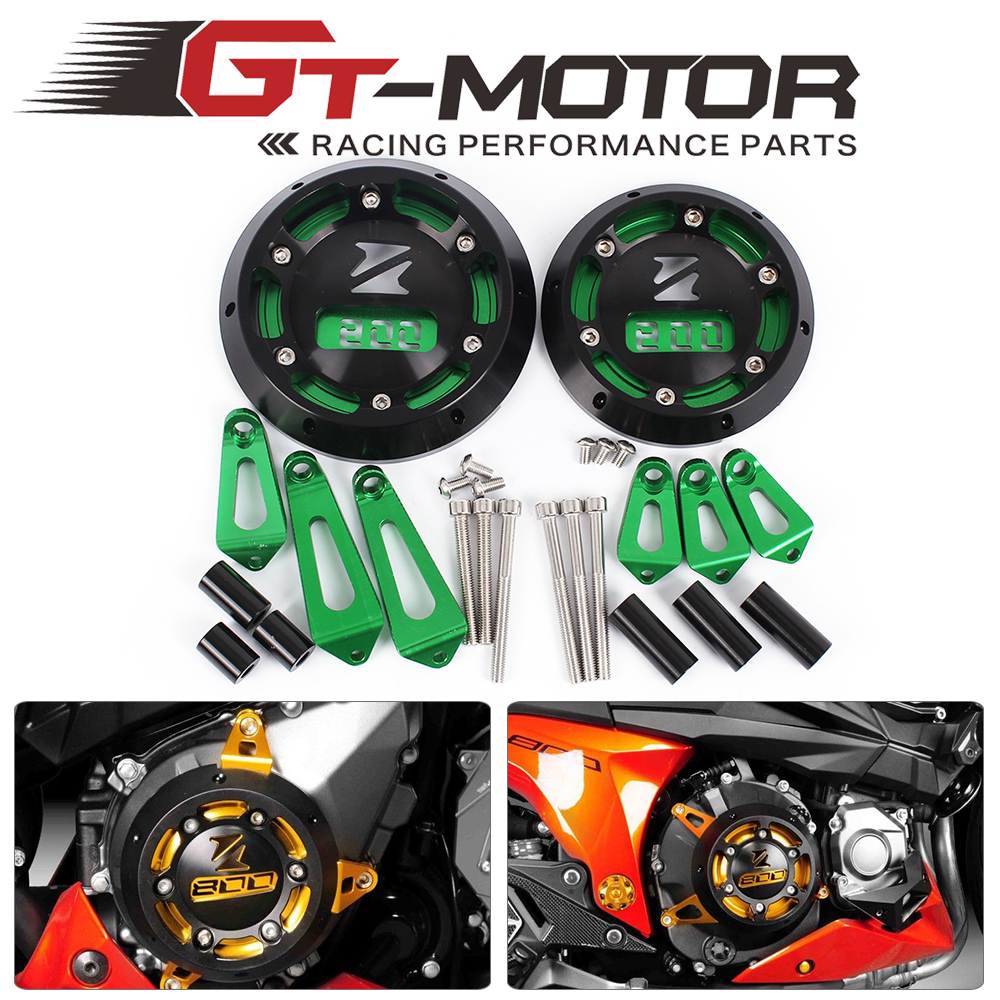 GT Motor - For KAWASAKI Z800 2013 2014 2015 2016 Motorcycle Engine Stator Cover Engine Protective Cover Left & Right Side new products motorcycle engine protective protect cover stator engine covers for kawasaki zx10r 2011 2012 2013 2014 2015 2016
