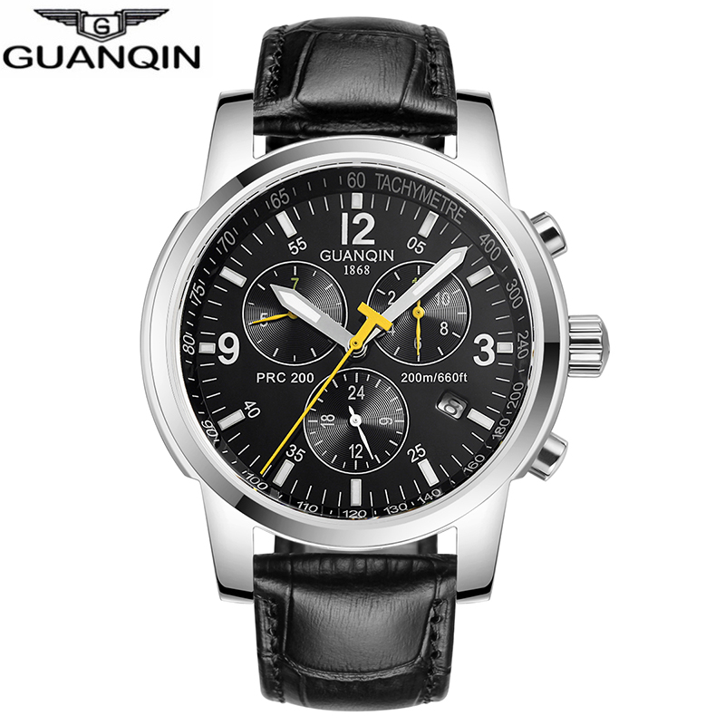GUANQIN Men Watches Top Brand Luxury 2018 Automatic Mechanical Clock men Sport waterproof Wristwatches Relogio Masculino все цены