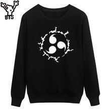 BTS Naruto Capless Sweatshirt Men Winter Classic Japanese Cartoon Men Anime Hoodies Fashion Streetwear Casual Anime 4XL Clothes