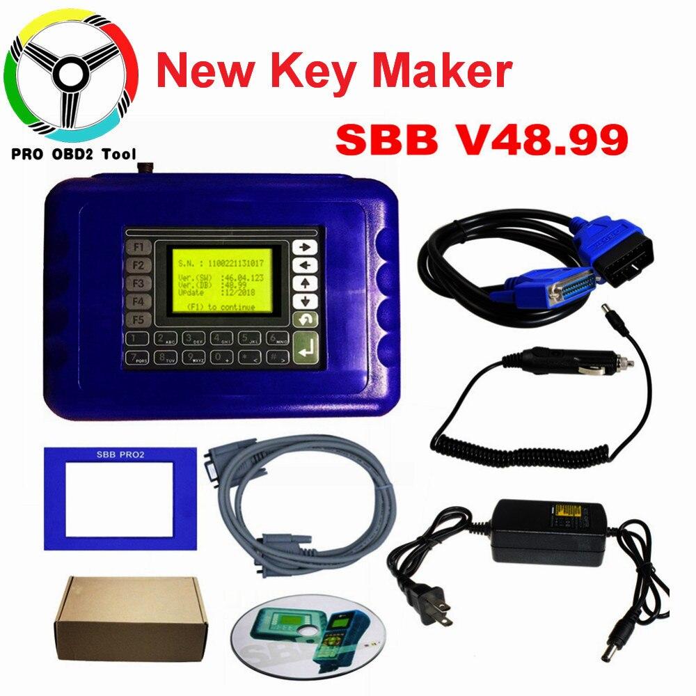 Pas de jetons limité SBB V48.99 programmeur de clé automatique mis à jour à V48.88 peut prendre en charge de nouvelles voitures à 2018 V48.99 SBB PRO2 livraison gratuite