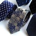 Корейской версии узкий галстук Мужская Полиэстер Шелковый Галстук в полоску мода gravata stropdas ascot цветочные галстуки