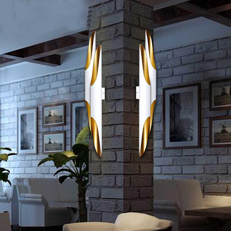 Nordic industrial retro arandela luzes de parede tubo circular alumínio led lâmpadas parede sala estar jantar quarto casa iluminação decorativa