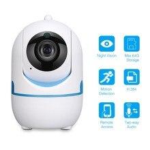 Беспроводная Wi-Fi ip-камера с функцией обнаружения движения/звука, камера безопасности, ночное видение, 2-Way Audio, 720 P, видеонаблюдение, детский монитор